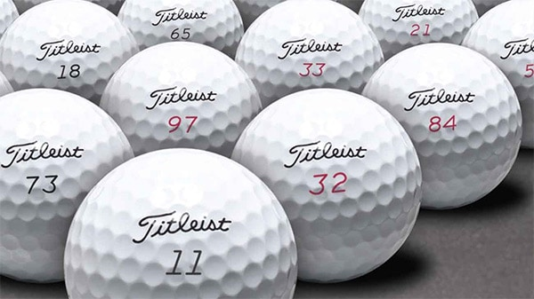 Golf Ball Numbers