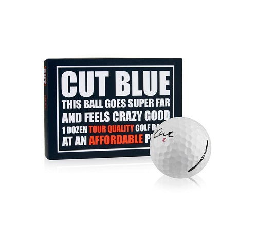 Cut Blue Golf Balls