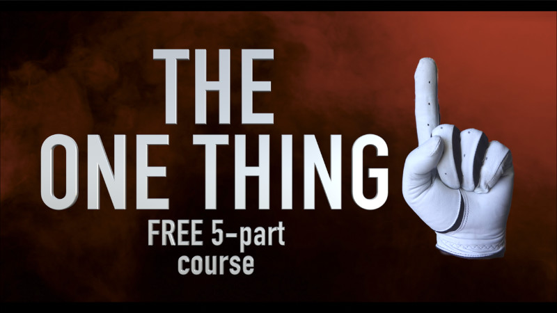 the one thing free 5 part course front