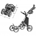 CaddyTek Explorer V8 – Superlite 4 Wheel Golf Push Cart