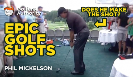 Epic Golf Shots Part 5 – Phil Mickelson Being Ole Lefty