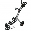 Swerve Founders Club 360 Swivel Wheel Golf Push Cart with Seat