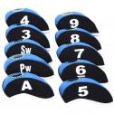 Sword & Shield Golf Iron Neoprene Iron Headcovers with Numbers and Window